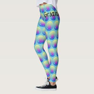 Ombre unicorn with word gratitude leggings