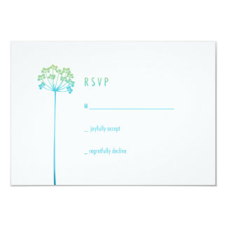 Ombre Wildflowers   RSVP 3.5x5 Paper Invitation Card