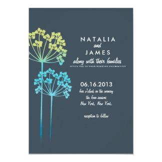 "Ombre Wildflowers   Wedding Invitation 5"" X 7"" Invitation Card"
