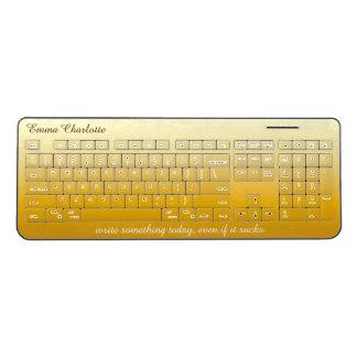 Ombre Yellow Gradient Gradation Gold Monochromatic Wireless Keyboard