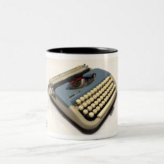 Omega 2 typewriter Two-Tone coffee mug