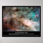 Omega Nebula M17 Hubble Telescope Photo Poster