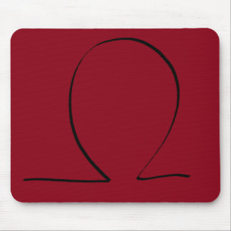 Omega Symbol CricketDiane Designer Stuff Mouse Pad