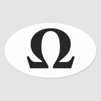 Omega, Symbol of Resistance Oval Sticker