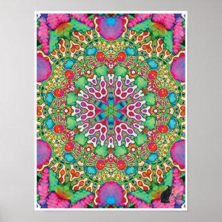 Omen Kinetic Collage Kaleidoscope Poster