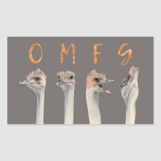 OMFG Ostriches Sticker