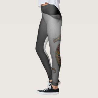 OMG Amazing leggings seahorse tattoo and grayscale