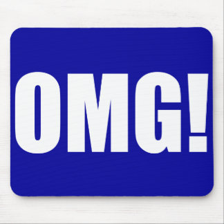 OMG! Blue Mouse pad(dark) Mouse Pad