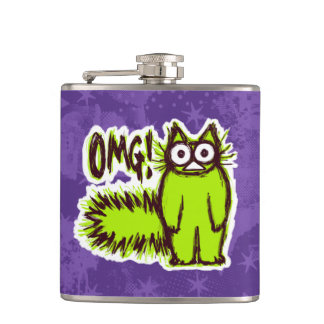 OMG CAT HIP FLASK