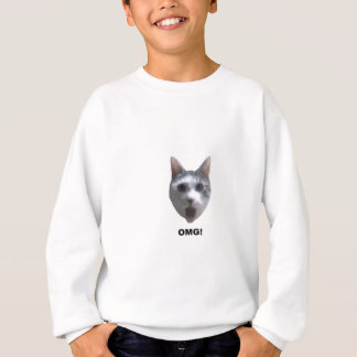 OMG CAT! (what has he seen?) Sweatshirt
