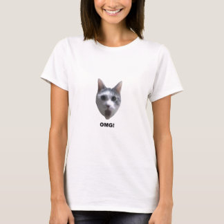 OMG CAT! (what has he seen?) T-Shirt