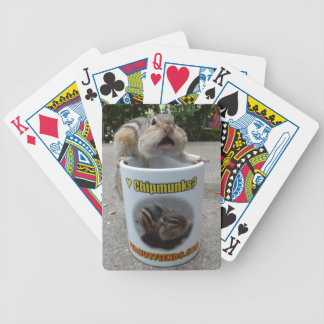 OMG Chipmunk on a Mug Bicycle Playing Card Deck