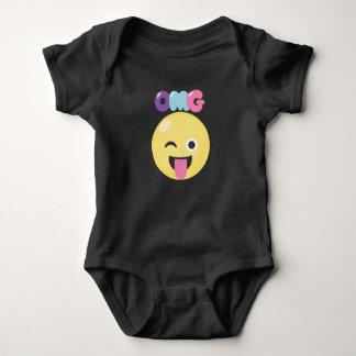 OMG Emoji Baby Bodysuit
