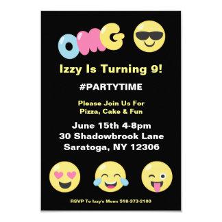 OMG Emoji Lover Birthday Invitation