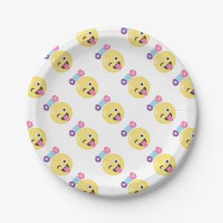 OMG Emoji Paper Plate