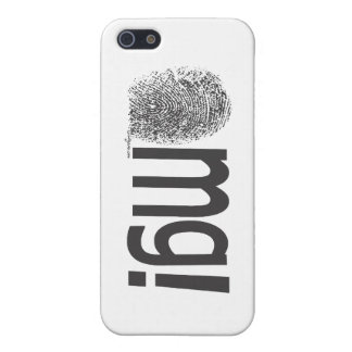 omg fingerprint text horizontal iPhone 5/5S cases