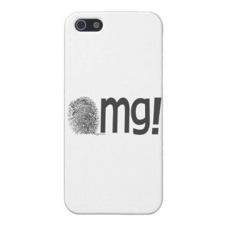 omg fingerprint text iPhone 5 cover