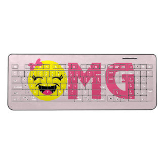 OMG Girly Emoji Wireless Keyboard