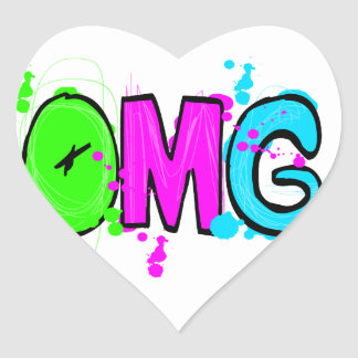 OMG! HEART STICKER