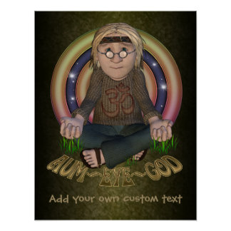 OMG Hippy Personalized Poster