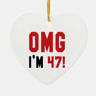 OMG I am 47 ! Ceramic Ornament