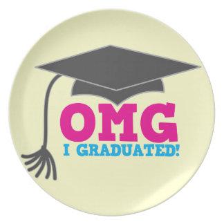 OMG I GRADUATED! great graduation gift Plates