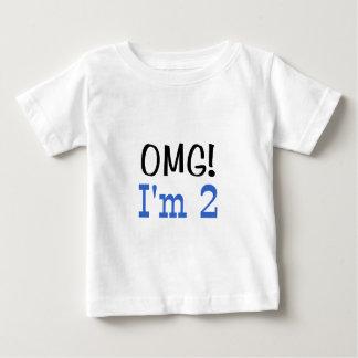 OMG I'm 2 (blue) Baby T-Shirt