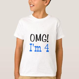 OMG I'm 4 (blue) T-Shirt