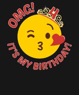 OMG Its My Birthday Cute Princess Emoji 4th Bday T Shirt