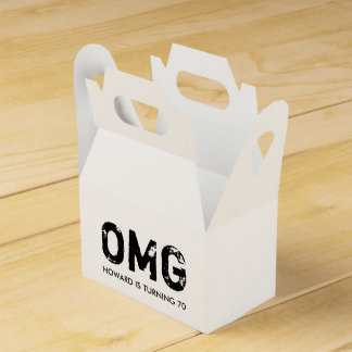 OMG It's Your Birthday Gable Favor Box - Black