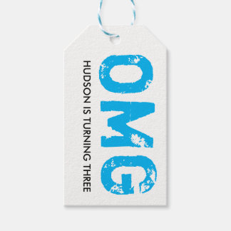 OMG It's Your Birthday Gift Tag - Blue
