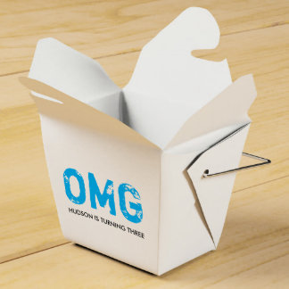 OMG It's Your Birthday Takeout Treat Box - Blue