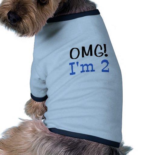 OMG j'ai 2 ans (le bleu) Vêtement Pour Animal Domestique