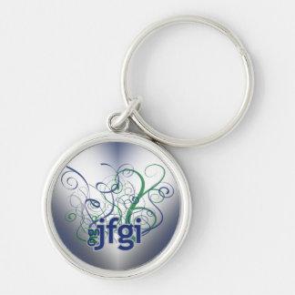 OMG! jfgi Silver-Colored Round Keychain