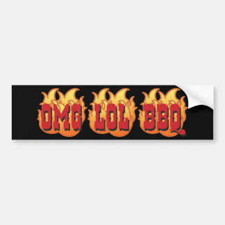 OMG LOL BBQ BUMPER STICKER