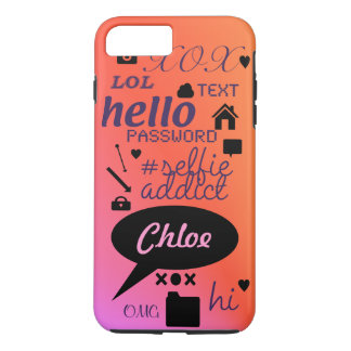 """OMG, LOL, HI"" -personalised and customised case"