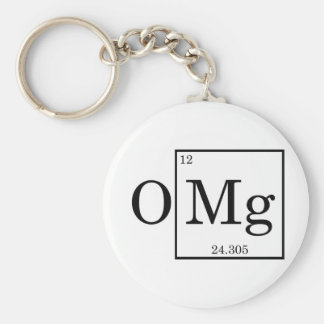 OMG Magnesium Science Chemistry Keychain