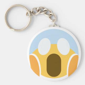 OMG Maupassant Emoji Basic Round Button Keychain