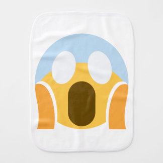 OMG Maupassant Emoji Burp Cloth