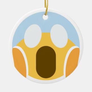 OMG Maupassant Emoji Ceramic Ornament