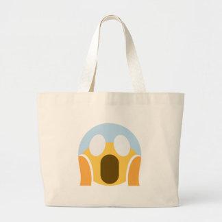 OMG Maupassant Emoji Large Tote Bag