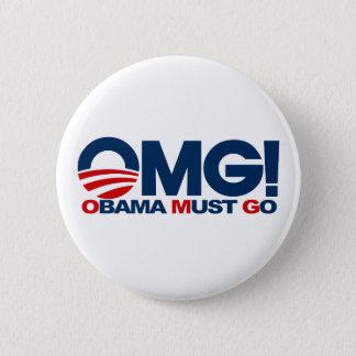 OMG! Obama Must Go 2 Inch Round Button