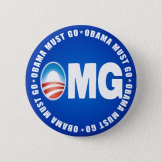 OMG Obama Must Go - Anti Obama 2012 2 Inch Round Button