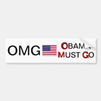 OMG...OBAMA MUST GO BUMPER STICKER