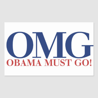 OMG Obama Must GO Sticker