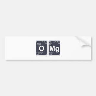 OMG Oh My God Periodic Table Elements Bumper Sticker