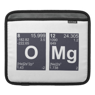 OMG Oh My God Periodic Table Elements iPad Sleeves