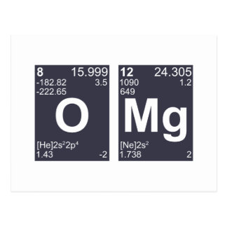 OMG Oh My God Periodic Table Elements Postcard
