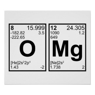 OMG Oh My God Periodic Table Elements Poster