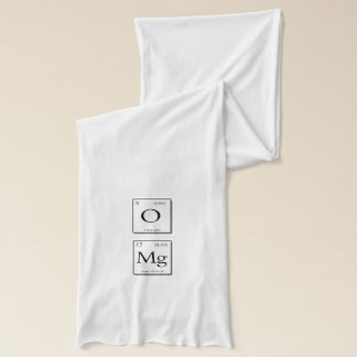 OMG Oh My God Periodic Table Elements Scarf